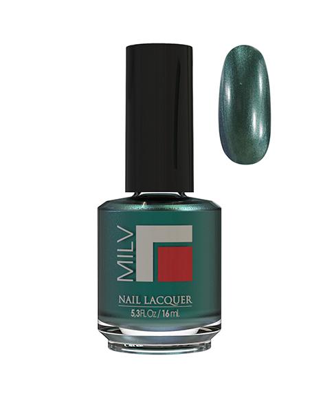 Лак MILV 139 Темно-зелёный шиммерный 16 мл.