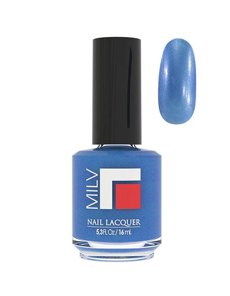 Лак MILV 142 Сине-фиолетовый с шиммером 16 мл.
